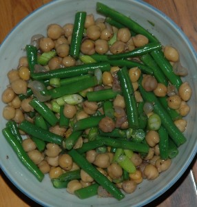 green beans with chickpeas