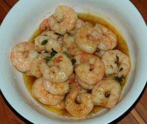 honey-glazed prawns